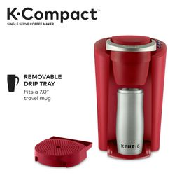 Keurig K-Compact Single-Serve K-Cup Pod Coffee Maker, Imperial Red for Sale in Houston,  TX