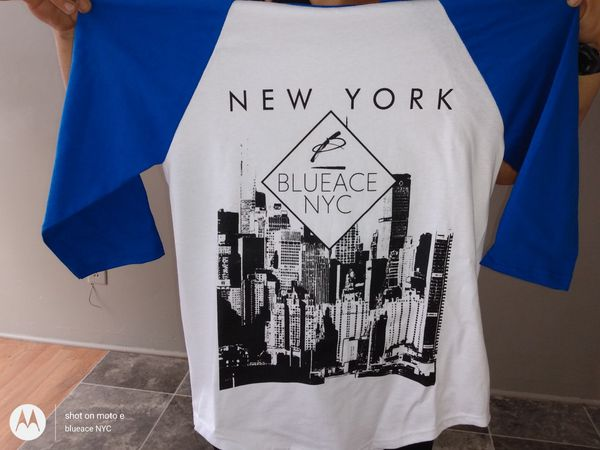 BlueACE NYC LA collection baseball tees limited run /blue edition / red coming soon