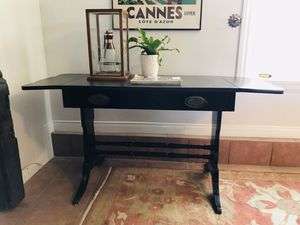 "Refinished vintage antique drop leaf writing desk 52.75""W x 21.5""D x 26.5""T for Sale in Monrovia, CA"