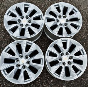 "2020 CHEVY SILVERADO 1500 RIMS NEW OEM 20"" INCH for Sale in Houston, TX"