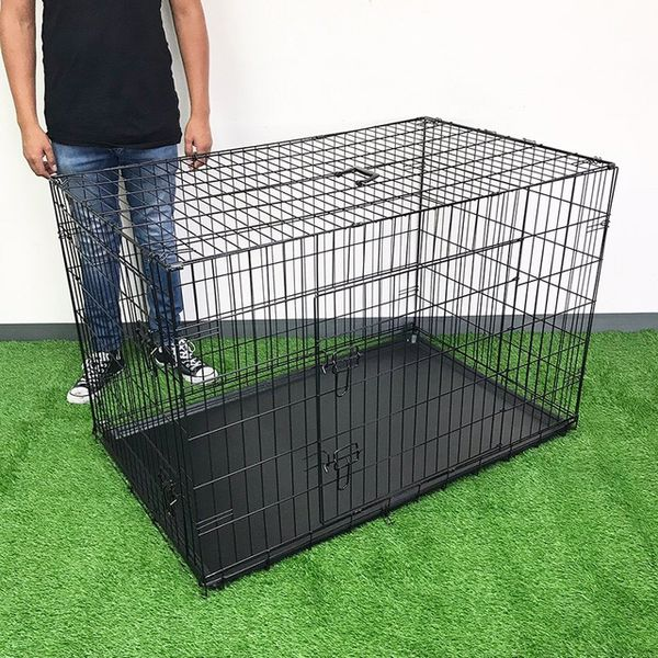 """(NEW) $65 Folding 48"""" Dog Cage 2-Door Pet Crate Kennel w/ Tray 48""""x29""""x32"""""""