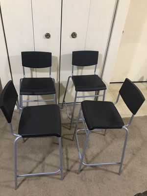 Still available 4 stackable bar height chairs pick up in Gaithersburg md20877 for Sale in Gaithersburg, MD