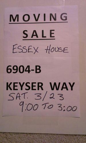 Big moving sale Saturday 9:00-3:00 for Sale in Alexandria, VA