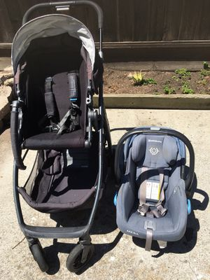 Uppababy stroller + Car seat + base for Sale in Hayward, CA