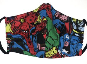 Marvel Superheroes Fabric Cloth Mask Face Cover Batman Spider-Man Dr.Who Ninja Turtle for Sale in Miramar, FL