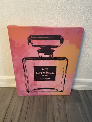 Canvas wall art perfume pink frame painting for Sale in San Diego, CA