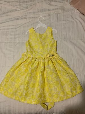 Yellow dress girls size 6 for Sale in FL, US