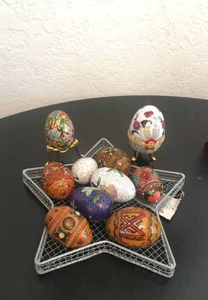 Hand painted vintage eggs for Sale in Orlando, FL