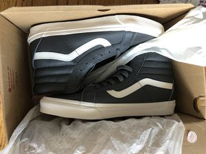 Gray leather vans OTW size 10.5 new for Sale in Denver, CO
