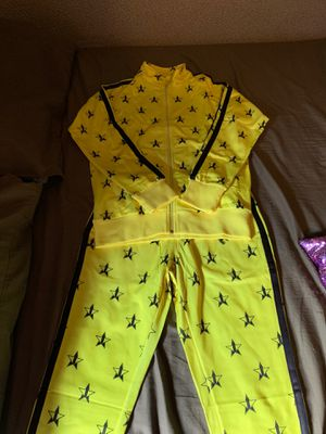 Jeffree Star Neon Yellow Track Suit for Sale in South Gate, CA