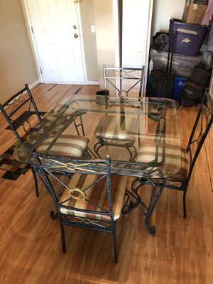 Glass Dining table and chairs for Sale in Hackensack, NJ