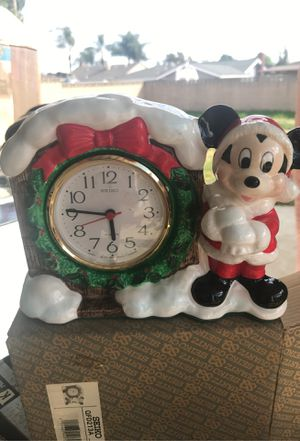 Christmas Mickey Mouse clock for Sale in Chino, CA