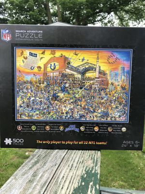 Indianapolis COLTS Joe Journeyman Puzzle 500 piece for all ages Toys Game Room for Sale in Edinburgh, IN