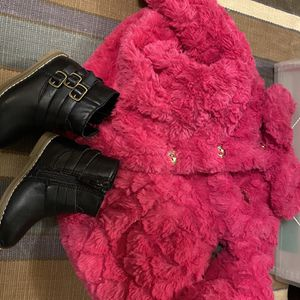 Juicy Couture Pink Fur Jacket - 12 Months for Sale in Aurora, CO