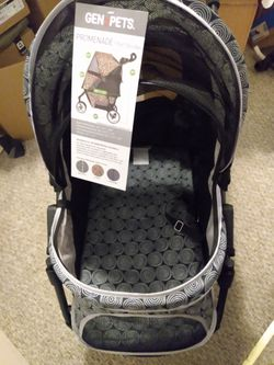 NEW Promenade All-Terrain Foldable Pet Stroller (35'' x 21' x 39'') W/ Storage + Drink Holder, Black Onyx Color for Sale in Portland,  OR