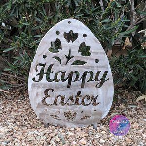 Happy Easter Egg Yard Decor Handmade for Sale in Surprise, AZ