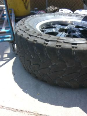 2 rims and tires Toyo Tires 37 1350 R20 LTZ two of them 10 for Sale in South Salt Lake, UT