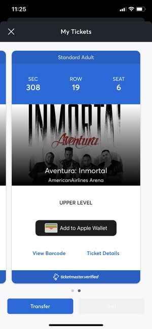 Aventura tickets for Sale in Miami, FL