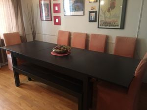 Beautiful wooden table & reupholstered chairs (it's a must see) for Sale in Los Angeles, CA