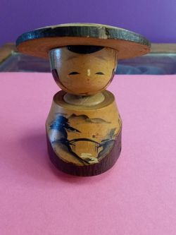 Vintage Japanese Wooden Bobble Kokeshi Doll for Sale in Troutdale,  OR
