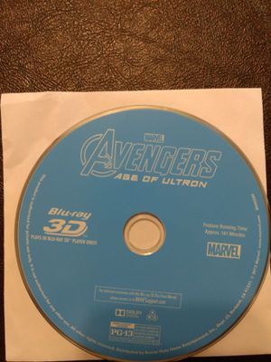 3d Blu Ray Avengers Age of Ultron for Sale in Lakewood, CA