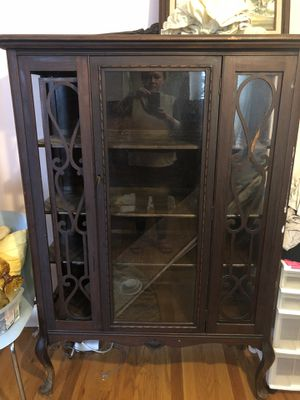 Antique China cabinet. Very unique was stunning in a bathroom with antique items inside. In moving had a few glass issues. No room any longer for Sale in St. Petersburg, FL