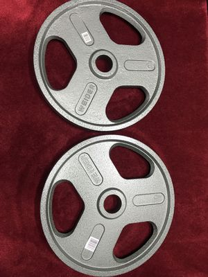 Weider weight plates 2 x 45 lbs, brand new for Sale in Vancouver, WA