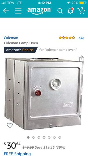 Coleman Camp Oven for Sale in Milton, PA