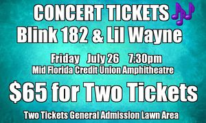 Blink 182 & Lil Wayne in concert Tampa Florida for Sale in Dunedin, FL