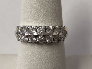 Double Row diamond gold ring 1 carat total weight size 6.5 for Sale in Scottsdale, AZ