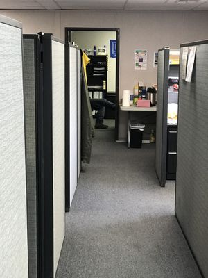 Used office Furniture Bulk Sale. Wood & Metal desks, partitions , filing cabinets for Sale in Hollywood, CA