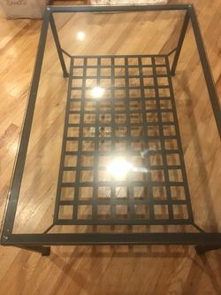 """Coffee Table Wrought Iron & Glass 41""""L 36""""W 19""""H Great Shape & Attractive Costs $250.00 New. Asking $75.00 for Sale in Bayonne,  NJ"""