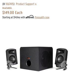 Klipsch Pro Media 2.1 Desktop Speaker System for Sale in Phoenix, AZ