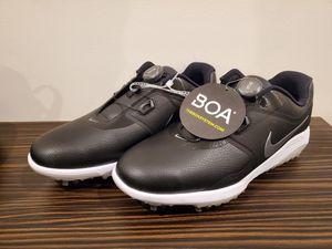 New Nike Vapor Pro BOA Mens Golf Shoes AQ1789-001 White/Black Size 9W Wide for Sale in Davie, FL