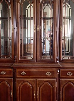 Curio cabinet - 2 Separate Pieces Will Help Load for Sale in Battle Ground,  WA