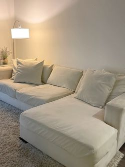 Plush Ivory Sectional Couch for Sale in Orange,  CA