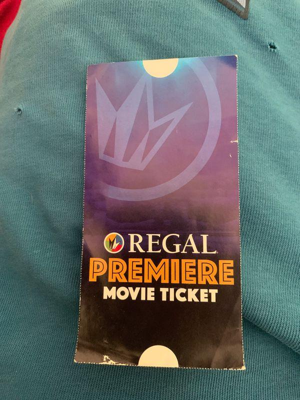 Regal free movie ticket