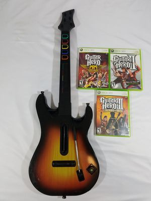 Red Octane Guitar Hero Wireless Controller For Xbox 360 with 3 games Lot for Sale in Winter Springs, FL