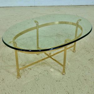 LABARGE Brass & Glass Coffee Table for Sale in Portland, OR