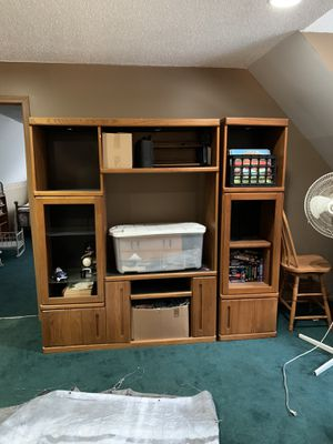 Entertainment Cabinet - FREE if you pick up for Sale in Sanford, MI