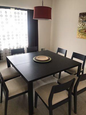 Eight (8) chair 🪑 dining room set for Sale in Lakehurst, NJ
