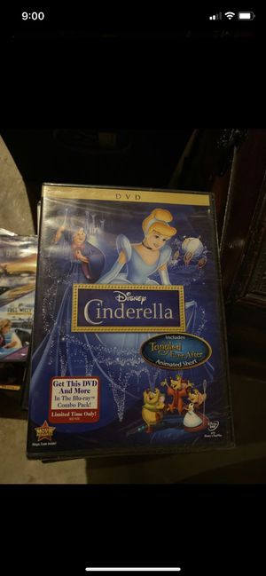 Disney Cinderella Includes Tangled Ever After DVD, brand new for Sale in Plainfield, IL