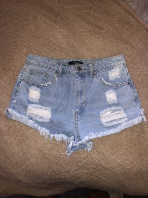 New Jean shorts with diamond studs for Sale in Las Vegas, NV
