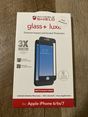 Invisible Shield Extreme Impact Glass Screen Protector for iPhone 6, 6s, 7 & iPhone 8 for Sale in Fresno, CA
