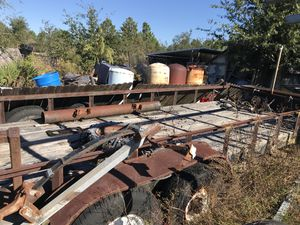 Water tanks n 7x24 trailer with 8 lug ford rims $1200 tanks $35 for Sale in Frostproof, FL