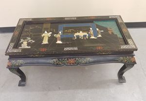 Black Lacquered Asian Coffee table, mother of pearl for Sale in Seattle, WA