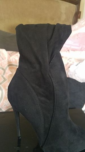 Size 7 black suede thigh high boots for Sale in Riverview, FL