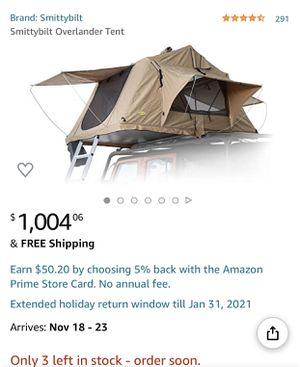 Smittybilt Overlander Roof Top Tent for Sale in San Diego, CA