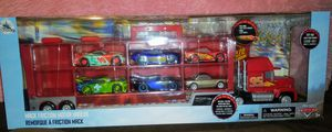 Disney Mack Friction Motor Hauler and Six Die Cast Cars Set (New) for Sale in Pico Rivera, CA