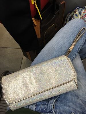 Authentic, sparkly, silver Marc Jacobs wristlet/clutch! for Sale in Dallas, TX